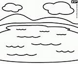 Rios Nubes Paisaje Lagunas Kolorowanki Faciles Colorare Colorir Krajobraz Jeziora Dwóch Woda Krajobrazy Colorearjunior Chmury Oncoloring sketch template