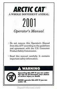 2001 Arctic Cat Atv All Owners Manual
