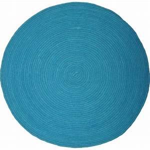 tapis rond rose bleu ou gris halo signe nattiot With but tapis rond