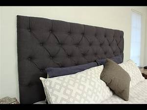 how to make your own tufted headboard youtube With make your own queen bed headboard