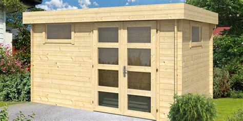abri de jardin en bois 224 toit plat halden 12 m 178 madriers
