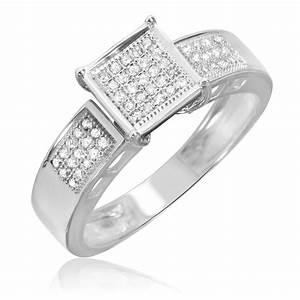 1 4 carat diamond bridal wedding ring set 10k white gold for 10k white gold wedding ring