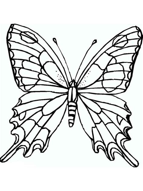 A butterfly with floral pattern. Butterfly coloring pages. Download and print butterfly ...