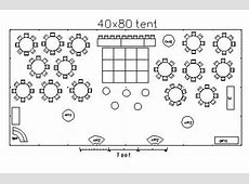how to design a 40 foot x 80 foot wedding tent layout