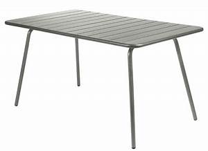table aluminium achat vente de table pas cher With ordinary fermob jardin du luxembourg 6 table luxembourg fermob 143 x 80 cm
