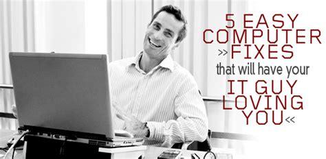 easy computer fixes      guy loving