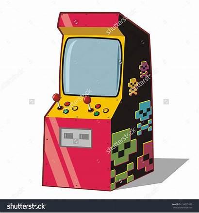 Arcade Clip Clipart Arcades Machine 90s Cabinet