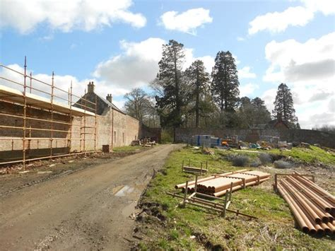 integrated property within walled garden dumfries house
