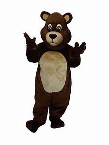 Adult Chocolate Teddy Bear Mascot Costume