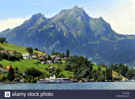 Hergiswil To Lucerne By Boat by Nidwalden Switzerland Stock Photos Nidwalden Switzerland
