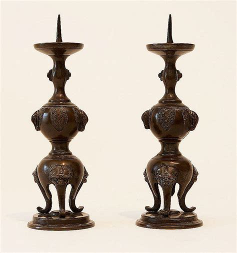 candlestick ls for sale pair chinese bronze candlesticks for sale antiques com