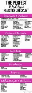 the perfect wedding registry checklist o taylor bradford With wedding registry ideas list