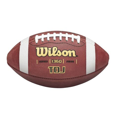 tdj leather football junior size wilson sporting goods
