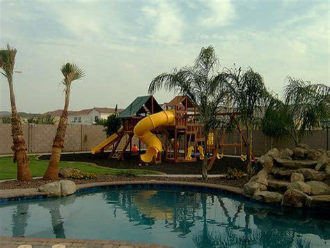 arizona backyard landscaping  tropical pool phoenix