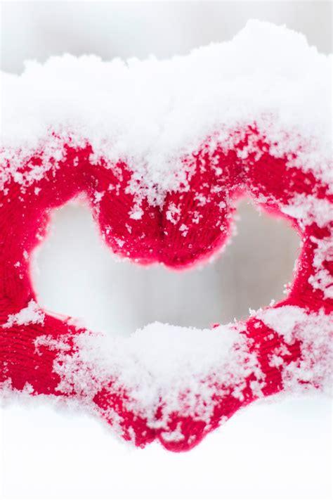 wallpaper love heart hands snow winter  love