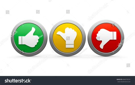 Positive Neutral Negative Icons Isolated On Stock