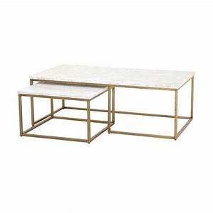 White marble round gold base coffee table for White nesting coffee table