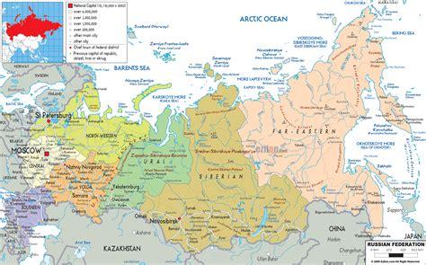 political map  russia ezilon maps
