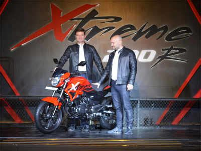 motocorp new xtreme 200r bike unveiled ahead of auto expo 2018 times of india