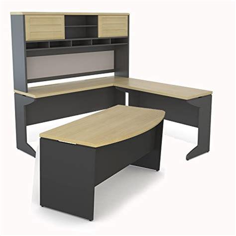 altra pursuit u shaped desk altra pursuit u shaped desk with hutch bundle natural