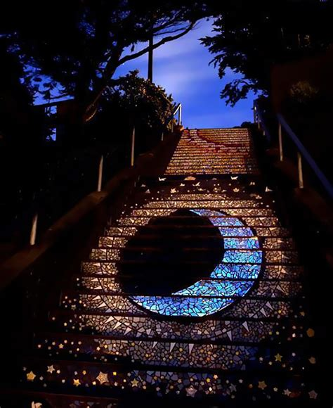 16th avenue tiled steps these tiled steps in san francisco glow at from the
