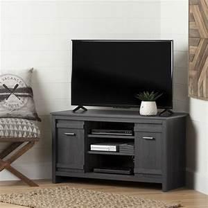 Meuble Tv En Coin : meuble tv en coin pour tv jusqu 39 42 39 39 exhibit ch ne gris ~ Teatrodelosmanantiales.com Idées de Décoration