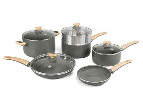 greenpan cookware non stick sets ceramic wood kitchen 10pc jones
