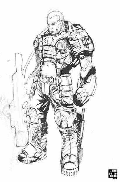 Science Sketch Fiction Marine Male Sketches Paintingvalley