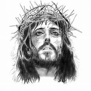 Black Jesus Tattoo Design