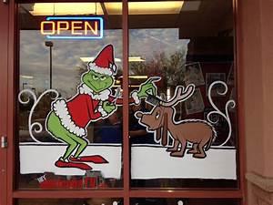 Grinch, Painted, Christmas, Windows, Phoenix, Az