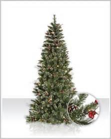 snow tipped berry pine christmas tree christmas tree market