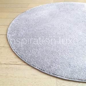 tapis rond sur mesure gris clair fin With tapis rond gris clair