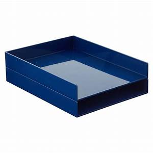 navy poppin stackable letter tray the container store With stackable letter trays