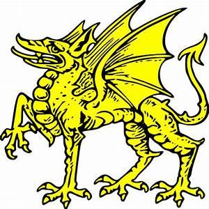 Gold Dragon Symbol Clip Art at Clker.com - vector clip art ...