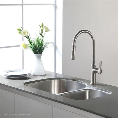 8 inch kitchen sink kraus kbu27 35 inch undermount 60 40 bowl kitchen 7381