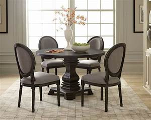 Dayton, Antique, Black, Round, Dining, Room, Set, By, Scott, Living, From, Coaster