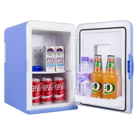 iceq  litre deluxe portable mini fridge  window blue