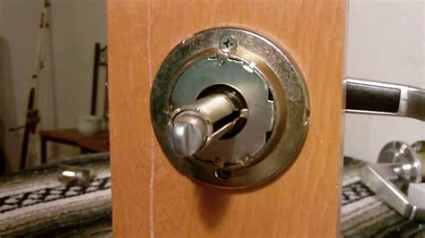 schlage door hardware removal entry lever lock removal installation of a grade 2