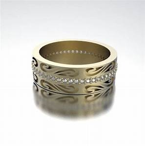Gold And Diamond Unique His And Her Wedding Bands EBay