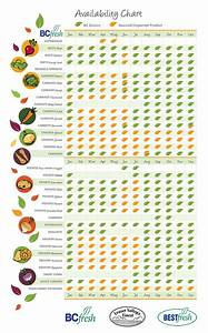 Vegetables Fruits Calendar Infographic Seasonal
