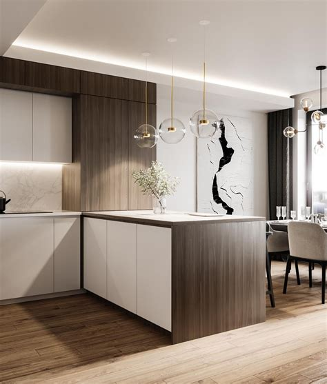 sophisticated modern glamour home  kitchen