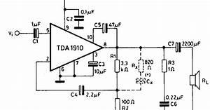 Forum Diagram  10w Audio Amplifier With Muting