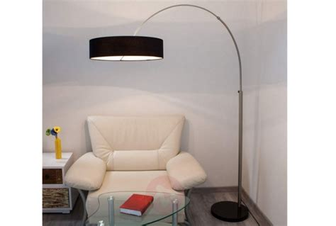 arc floor lamp  black fabric shade absolute home