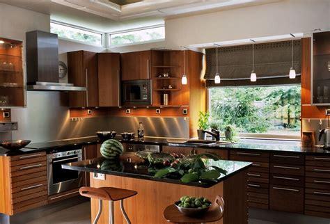 cool modern wooden kitchen designs
