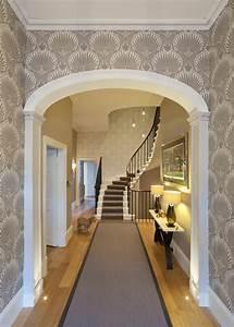 tapete in grau stilvolle vorschlage fur wandgestaltung With balkon teppich mit flur tapeten