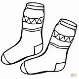 Coloring Socks Pages Kid Sock Printable Drawing Paper Crafts Cartoons Clothing sketch template
