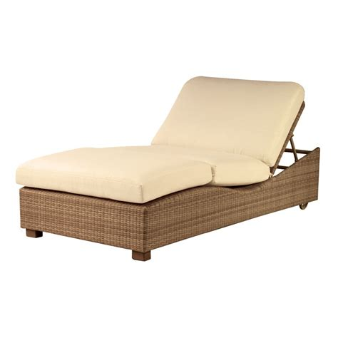 chaise lune whitecraft by woodard saddleback wicker chaise