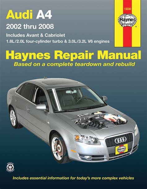 old cars and repair manuals free 2002 audi tt instrument cluster audi a4 sedan avant cabriolet 2002 2008 haynes repair manual usa haynes publishing