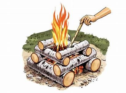 Cabin Fire Log Build Building Basic Shape