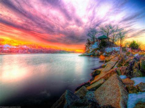 nature sunset wallpaper hd wallpapersafari